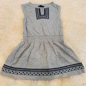 GAP Girls S 6/7 Gray Short Sleeve Dress